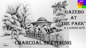 charcoal sketching landscape tutorial lessons video