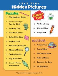 hidden pictures kids hidden pictures puzzles u0027s play