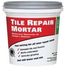 custom building products 1 5 lb white tile repair mortar trmw1