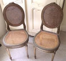French Louis Bedroom Furniture by A3104 Pair Of Old French Louis Style Cane Chairs