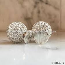 two sided earrings pearl monogrammed silver earrings pearl monogrammed silver