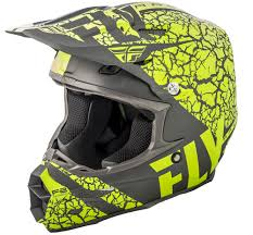 fly motocross boots f2 carbon fracture matte grey hi vis helmet fly racing