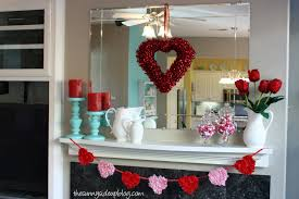 Valentine Home Decorations Winter And Valentines Mantel The Sunny Side Up Blog