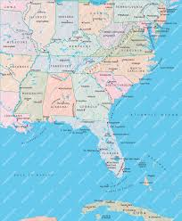 Atlanta Map Usa by Usa Map East Coast Laminatoff Us Interstate Highway Map Stock