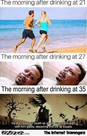 Funny Drinking Memes - the morning after drinking throughout time funny meme pmslweb