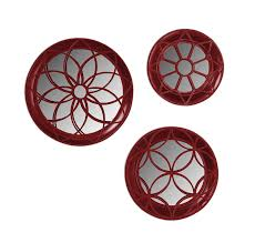 Wall Mirrors At Target Amazon Com Laurent Geometric Round 3 Piece Metal Accent Mirror