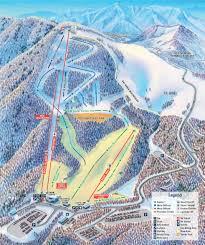 Michigan Adventure Map by Cataloochee Ski Area Trail Map