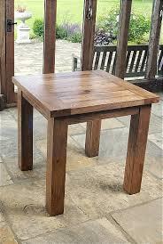 Brooklyn Rustic Oak Square Dining Table Xcm - Rustic oak kitchen table
