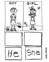 pronouns worksheet he she grammar speechtivities