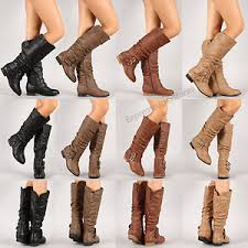 womens boots knee high leather womens boots knee high fashion faux leather boot