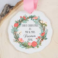 Christmas Ornament Wedding Gift First Christmas Ornament Mr And Mrs Ornament Wedding Gift