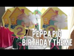 Peppa Pig Birthday Decorations Look Who Turned Two Peppa Pig Birthday Theme March 17 22 2015