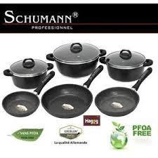 batterie de cuisine schumann batterie de cuisine en marmite en x3 poele x3 schumann