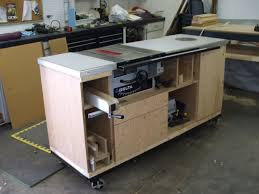 table saw workbench plans table saw storage all in one great that it is on wheels pull it out