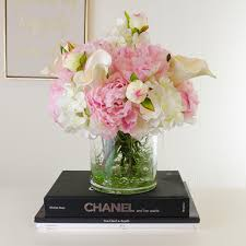 peony arrangement large real touch calla hydrangea peony arrangement flovery