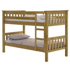 Julian Bowen Barcelona Solid Pine Bunk Bed Furniture - Solid pine bunk bed
