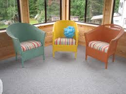 Round Chair Cushions Furniture Appealing Dark Wicker Chair Cushions For Elegant Patio