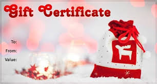 christmas gift certificate template free download best business