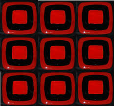 red and black fused glass tiles u2014 omega glass tiles