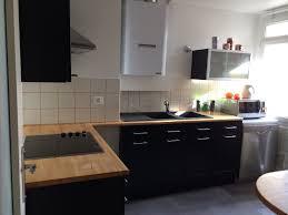 cuisine meubles gris cuisine grise plan de travail bois ides