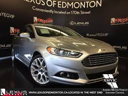 lexus of edmonton careers used 2014 silver ford fusion titanium awd walkaround review