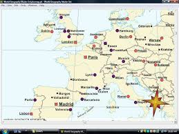 map western europe cities europe countries and capitals
