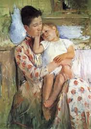 emmie and her child by mary cassatt u2013 my daily art display