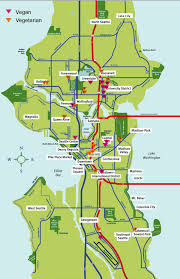 Muni Bus Map Map Of Seattle Vegetarian Map Of Seattle Best Meat Free