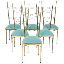 chaivari chairs six brass blue velvet chiavari chairs jean marc fray