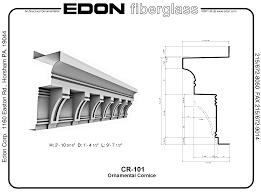 edon corporation architectural ornamental fiberglass frp cornice