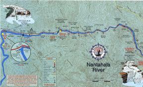 nantahala river map nantahala river map