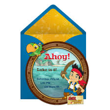 jake land pirates party invitation disney