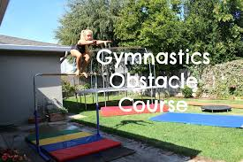 gymnastics obstacle course youtube