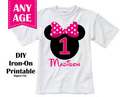 Minnie Mouse Clothes For Toddlers Sale Printable Minnie Mouse Birthday Iron On Transfer