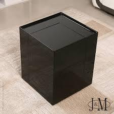 side tables modern modern end table mini bar p205b in black gloss j u0026m furniture