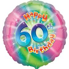 inflated helium balloons delivered colourful 60th birthday balloon delivered inflated in uk