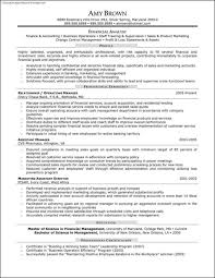 Resume For Financial Analyst Financial Analyst Resume Sample Template