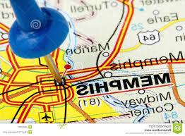 Memphis Map Best Hd Pushpin Memphis Tennessee Map Closeup Highlighted Blue