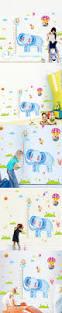 cute kawaii cartoon elephant removable home decor vinyl art kids