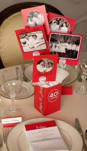 festive ruby anniversary centerpieces party time anniversary