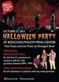 spirit of halloween 2015 halloween party at bonchon phnom penh center on october 31 2015