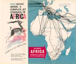 South African Airways Route Map by Boac The August 1961 Trip From Nairobi To Seattle By Ann Dunham