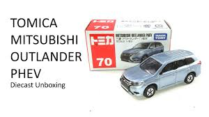 mitsubishi suv blue tomica 70 mitsubishi outlander phev unboxing diecast car toy