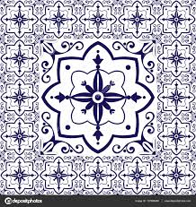 Tile Floor In Spanish by White Blue Tiles Floor Vintage Pattern Vector With Ceramic