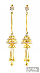 fancy jhumka earrings 22k fancy jhumka earrings ajer57417 22k gold earrings