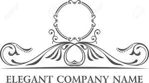 Elegant Decor Luxury Logo Set Calligraphic Pattern Elegant Decor Elements