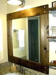 Framing A Bathroom Mirror Wood Bathroom Mirrors Laughingredhead Me