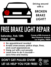 where to get brake light fixed aclu socal on twitter losangeles get your brake lights fixed for