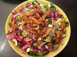 thanksgiving soy curls with vegan asian soy curl salad the