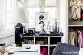 Black Desk And Chair Closet With Desk And Chair Transitional Closet